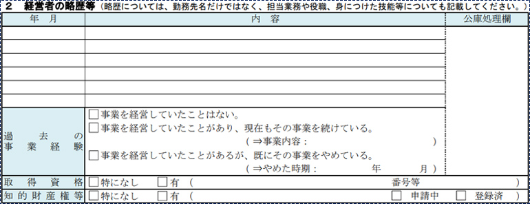 【項目②】経営者の略歴等