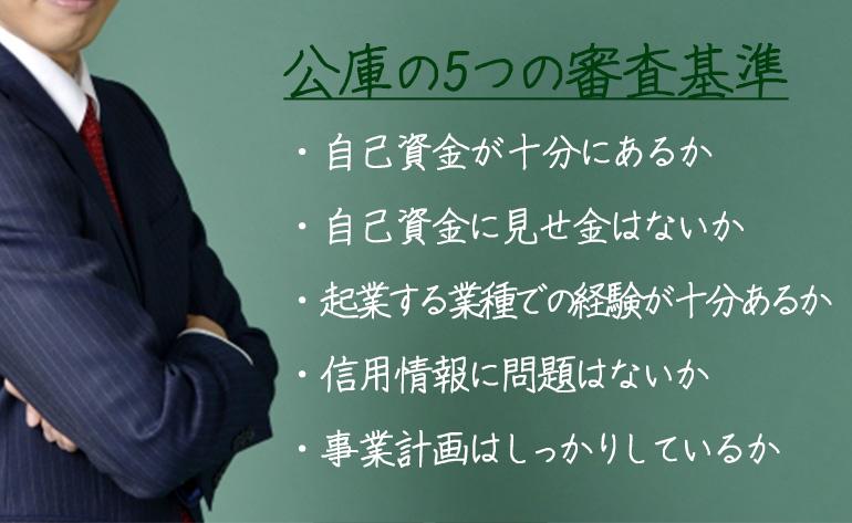 創業融資で利用できる日本政策金融公庫の5つの審査基準