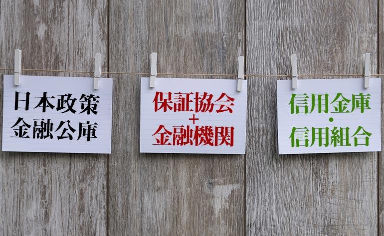 1.東京で創業融資を行う3つの機関